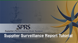 Supplier Surveillance Reports Tutorial